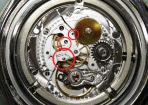 ブライトリング スーパーオーシャンスティールフィッシュ 摩耗汚れが出てました。