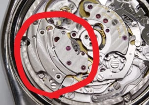 ブライトリング クロノマット44 自動巻き部分