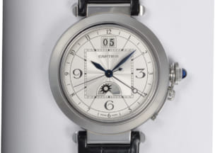 カルティエ パシャウォッチXL 正面から(すみません、写真を撮り忘れたため別の時計です